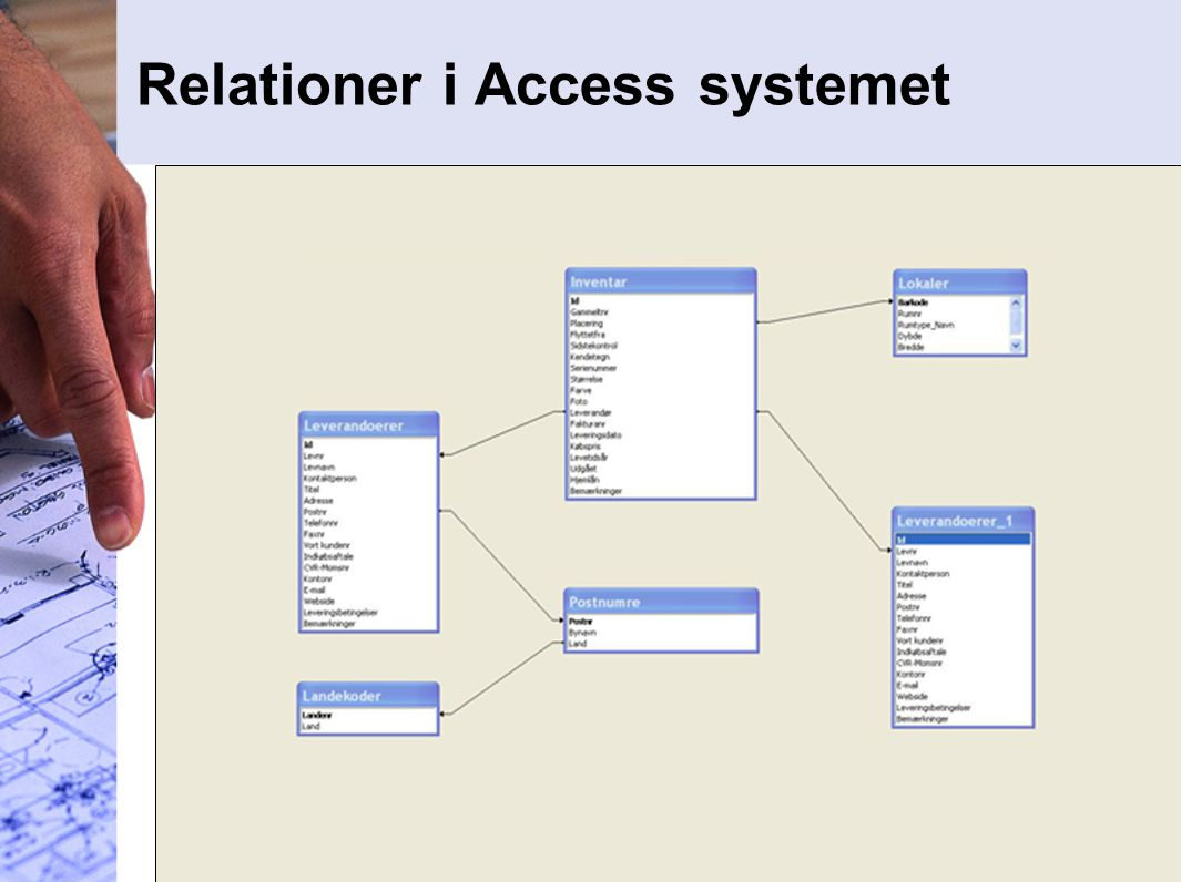 Relationer i Access systemet