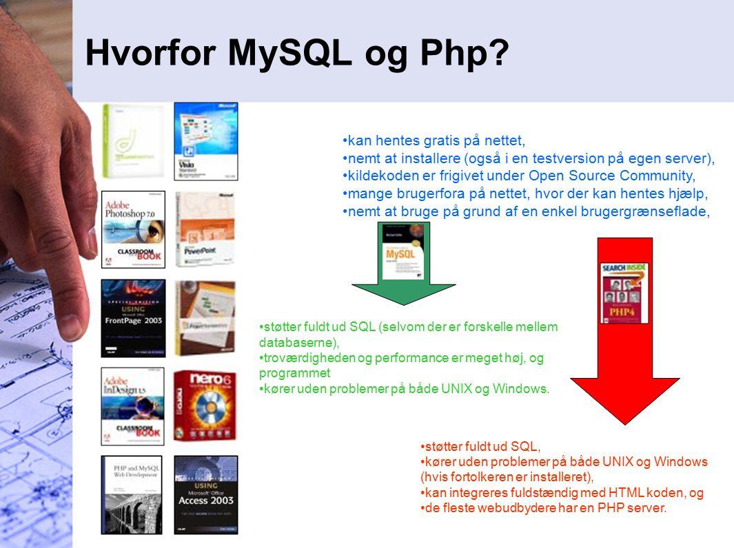 Hvorfor MySQL og Php.