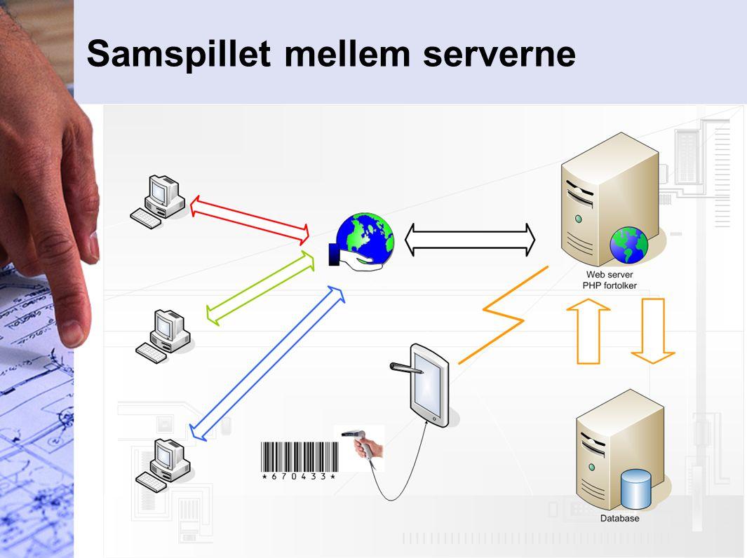 Samspillet mellem serverne