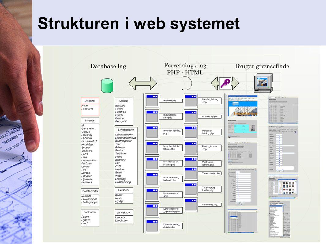 Strukturen i web systemet