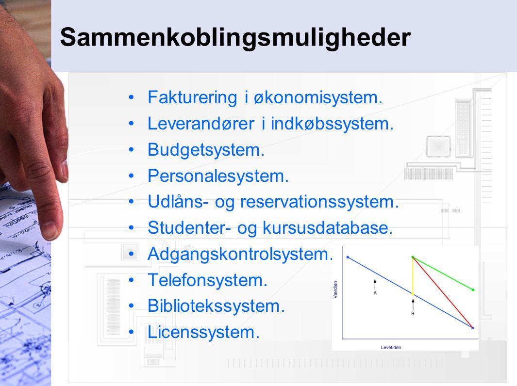 Sammenkoblingsmuligheder Fakturering i økonomisystem.