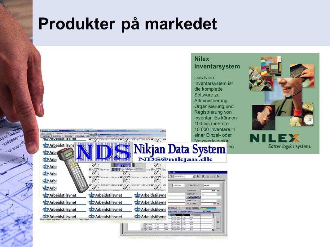 Produkter på markedet