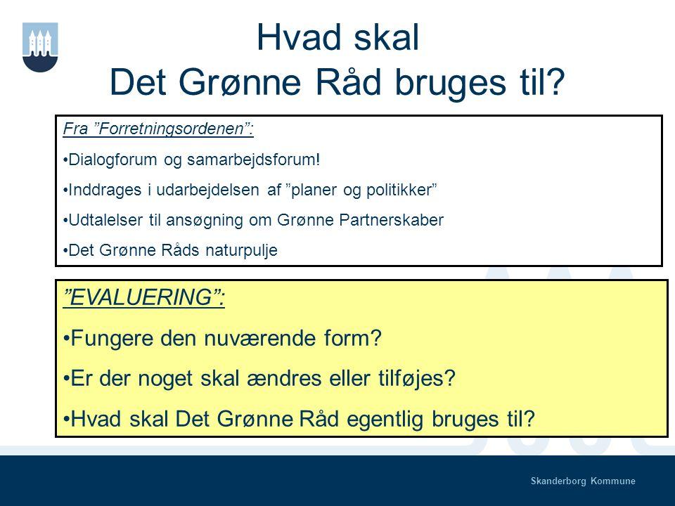 Skanderborg Kommune Sammensætning af det Grønne Råd Andre medlemmer.