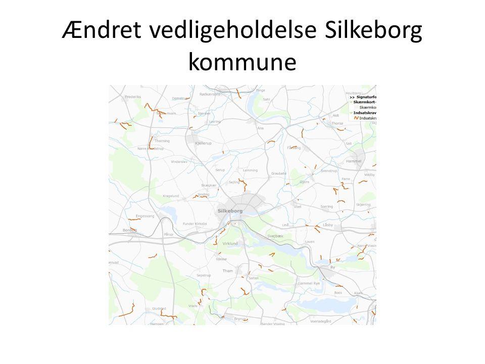 Ændret vedligeholdelse Silkeborg kommune