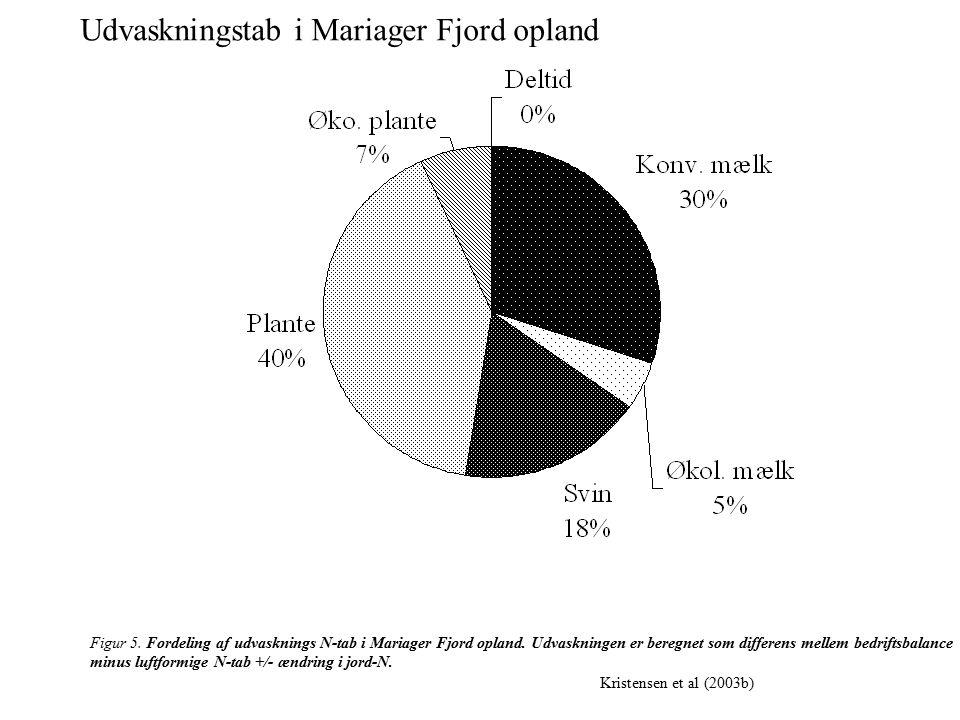 Figur 5. Fordeling af udvasknings N-tab i Mariager Fjord opland.