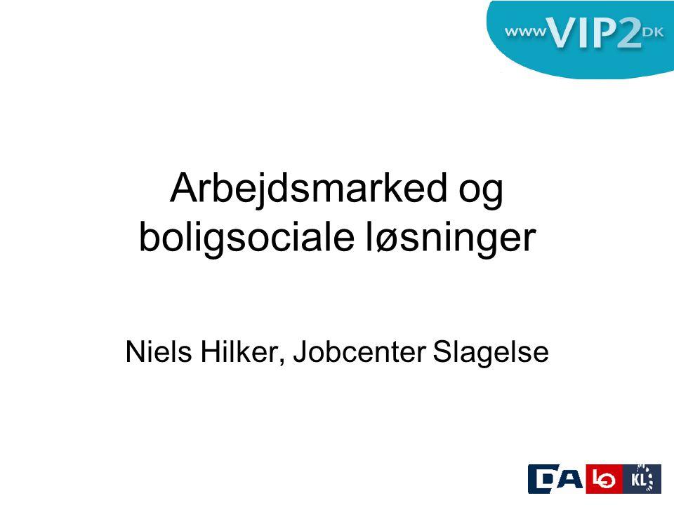 Arbejdsmarked og boligsociale løsninger Niels Hilker, Jobcenter Slagelse