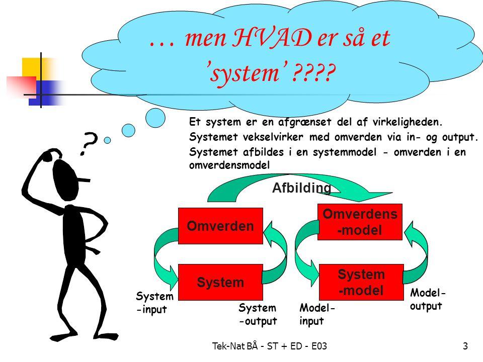 Tek-Nat BÅ - ST + ED - E033 … men HVAD er så et 'system' .
