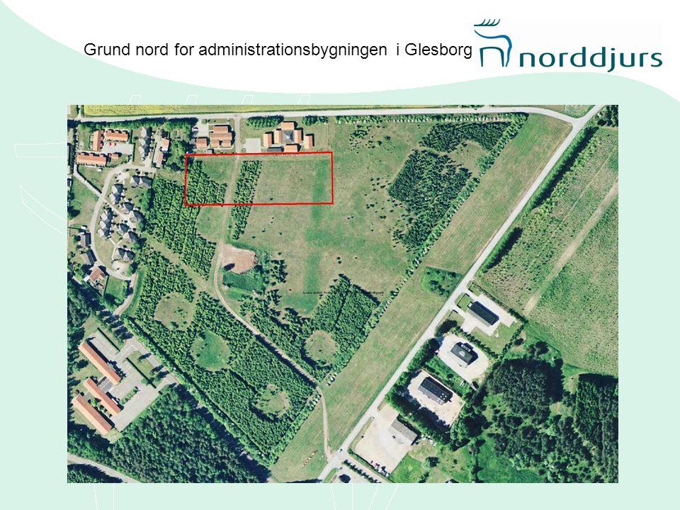 Grund nord for administrationsbygningen i Glesborg