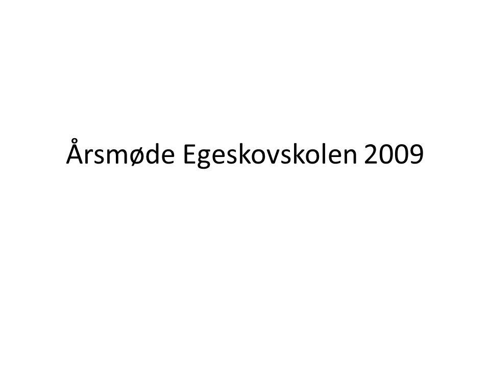 Årsmøde Egeskovskolen 2009