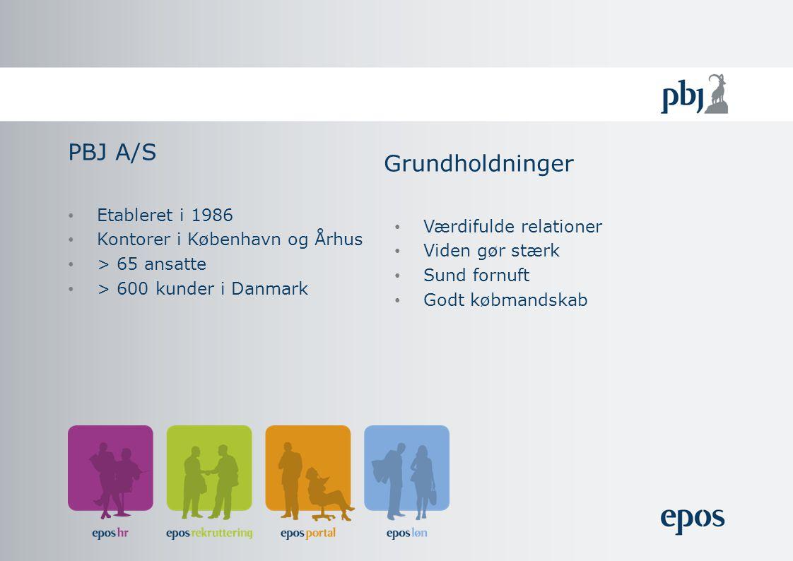 Etableret i 1986 Kontorer i København og Århus > 65 ansatte > 600 kunder i Danmark PBJ A/S Værdifulde relationer Viden gør stærk Sund fornuft Godt købmandskab Grundholdninger