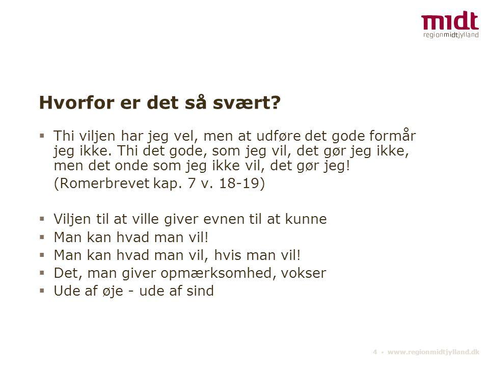 4 ▪ www.regionmidtjylland.dk Hvorfor er det så svært.