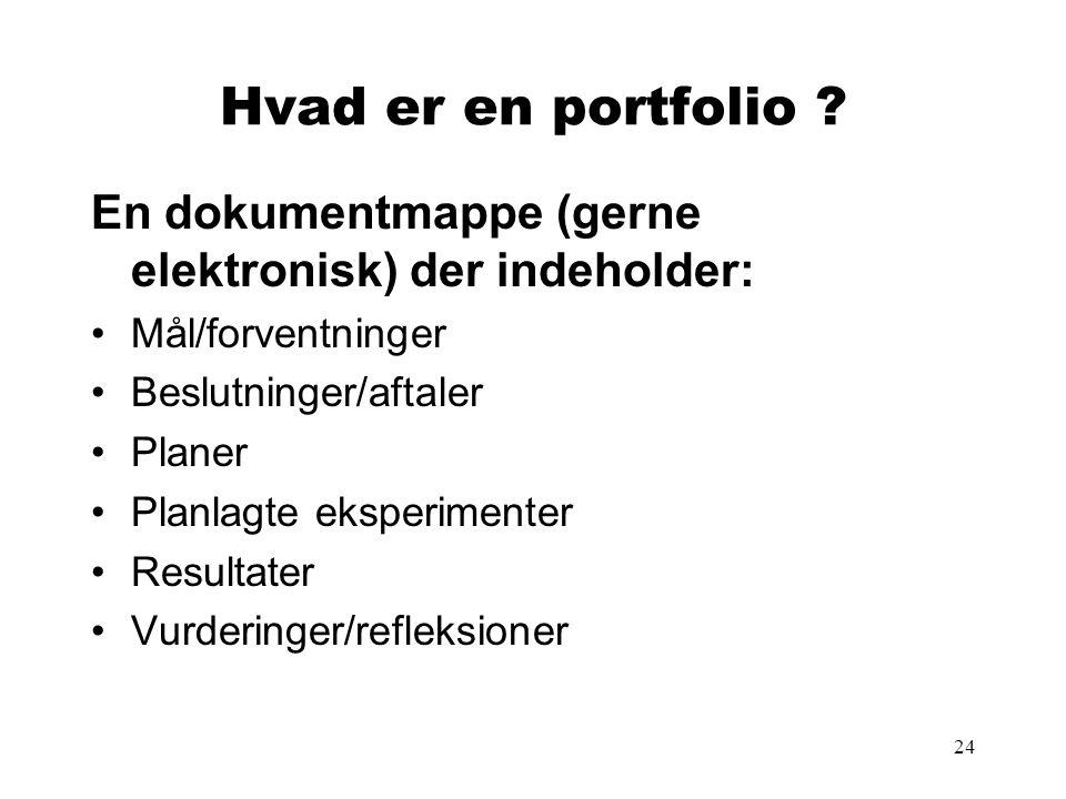 24 Hvad er en portfolio .