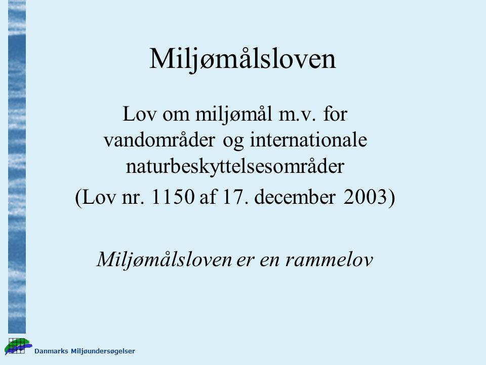 Danmarks Miljøundersøgelser Miljømålsloven Lov om miljømål m.v.