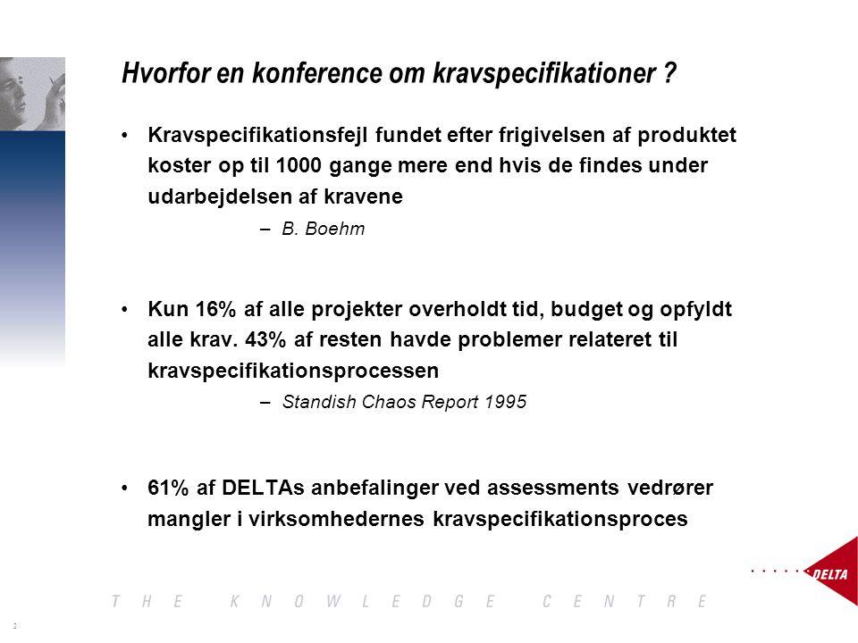 2 Hvorfor en konference om kravspecifikationer .