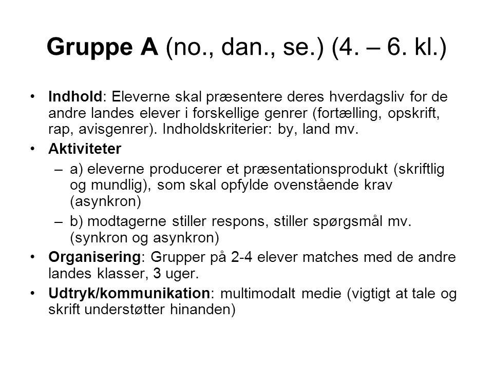 Gruppe A (no., dan., se.) (4. – 6.