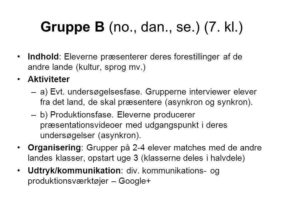 Gruppe B (no., dan., se.) (7.