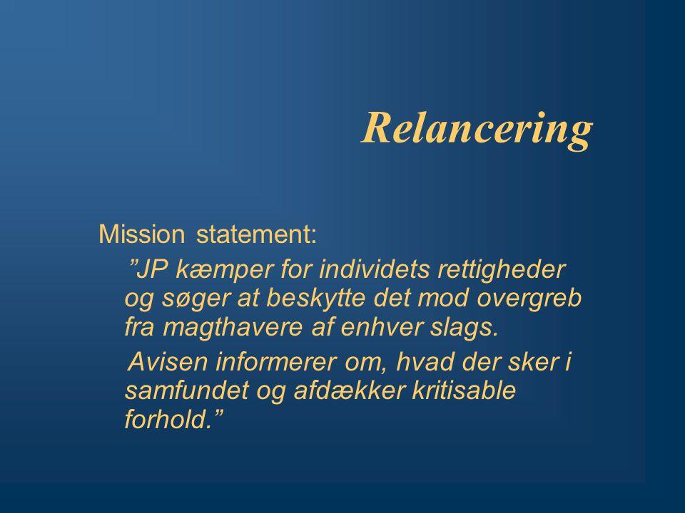 Relancering Mission statement: JP kæmper for individets rettigheder og søger at beskytte det mod overgreb fra magthavere af enhver slags.