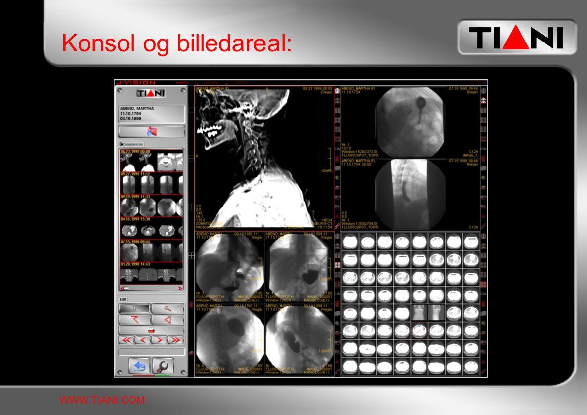 Konsol og billedareal: WWW.TIANI.COM