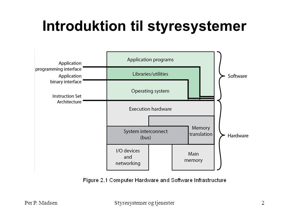 Per P. MadsenStyresystemer og tjenester2 Introduktion til styresystemer