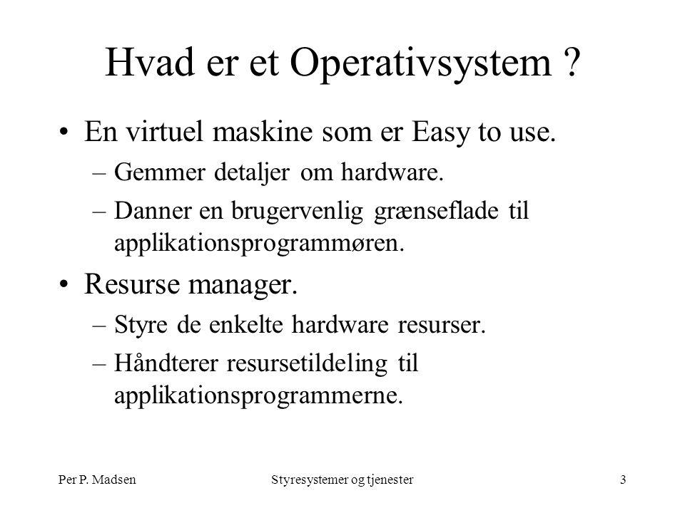 Per P. MadsenStyresystemer og tjenester3 Hvad er et Operativsystem .