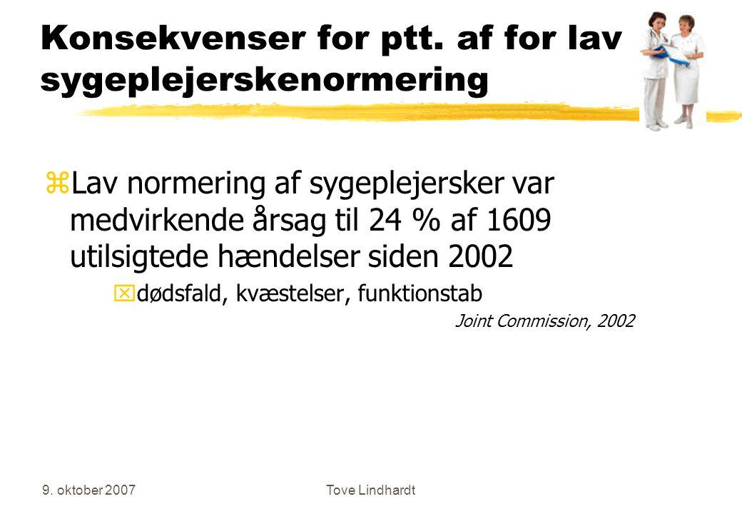 9. oktober 2007Tove Lindhardt Konsekvenser for ptt.