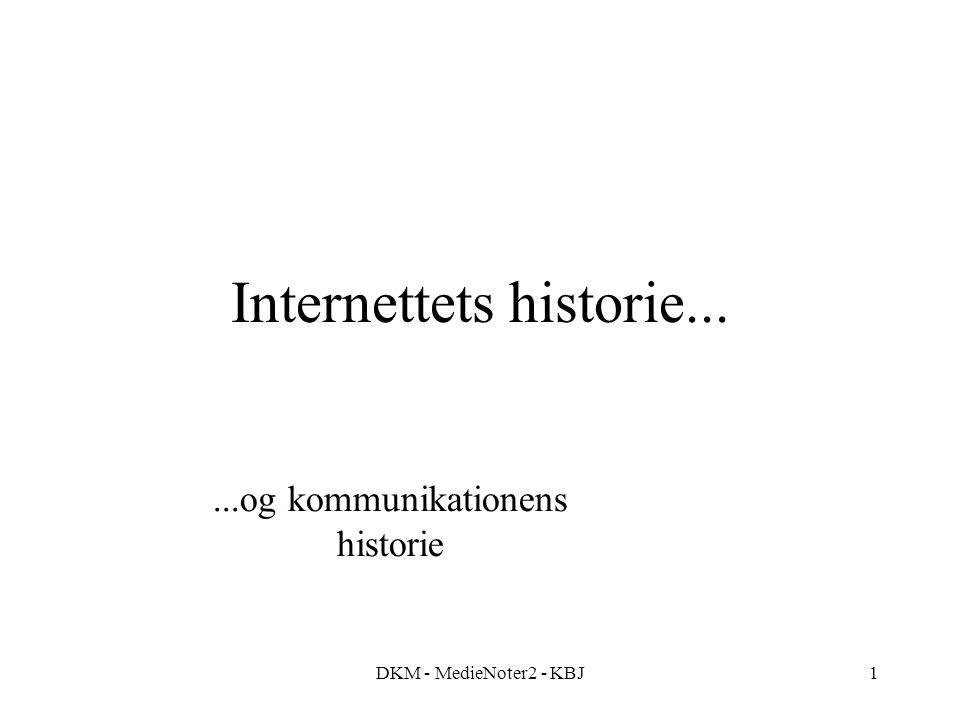 DKM - MedieNoter2 - KBJ1 Internettets historie......og kommunikationens historie