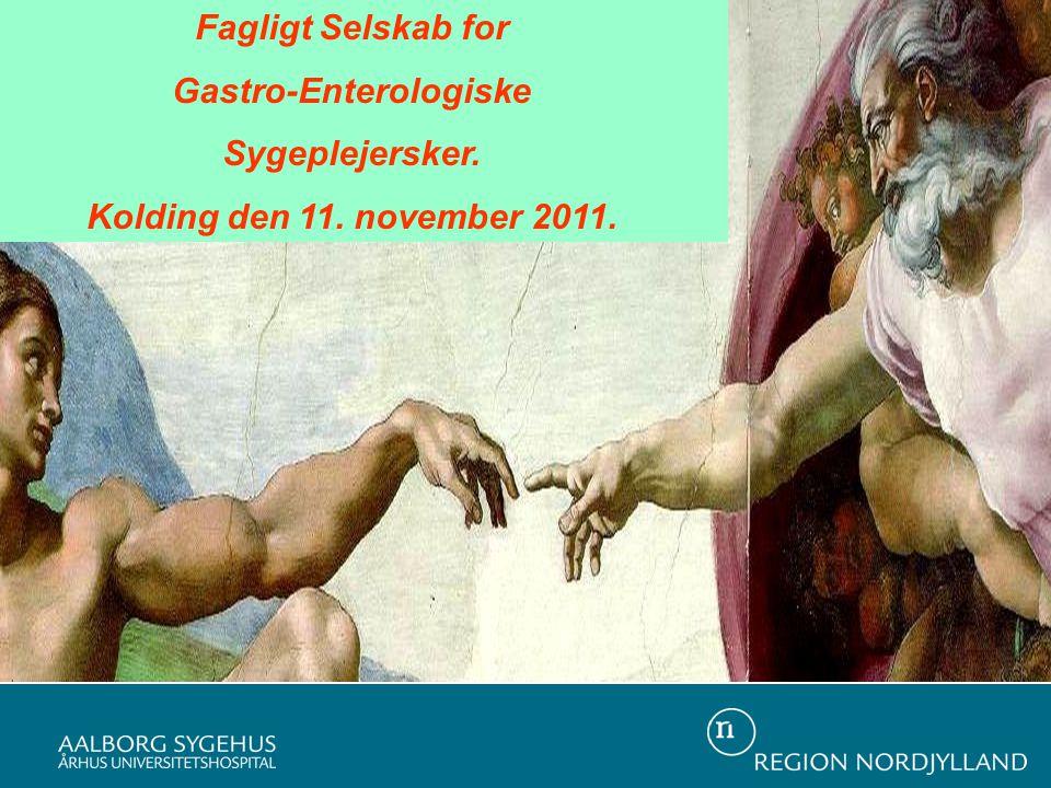 Fagligt Selskab for Gastro-Enterologiske Sygeplejersker. Kolding den 11. november 2011.