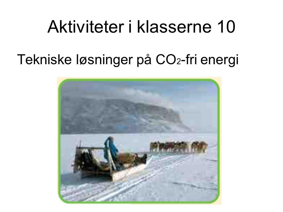 Aktiviteter i klasserne 10 Tekniske løsninger på CO 2 -fri energi