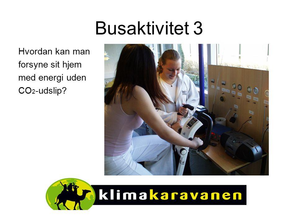 Busaktivitet 3 Hvordan kan man forsyne sit hjem med energi uden CO 2 -udslip