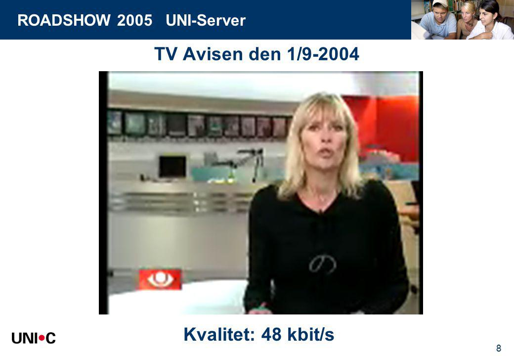 ROADSHOW 2005 UNI-Server 8 TV Avisen den 1/9-2004 Kvalitet: 48 kbit/s