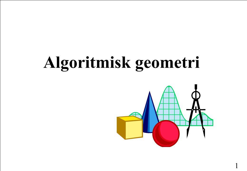 1 Algoritmisk geometri