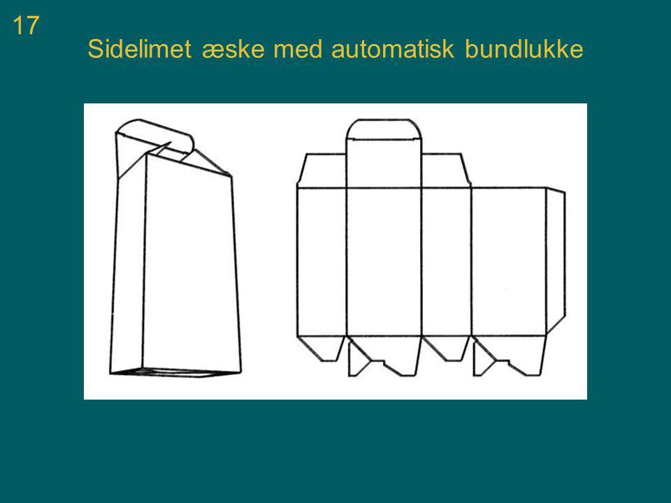 17 Sidelimet æske med automatisk bundlukke