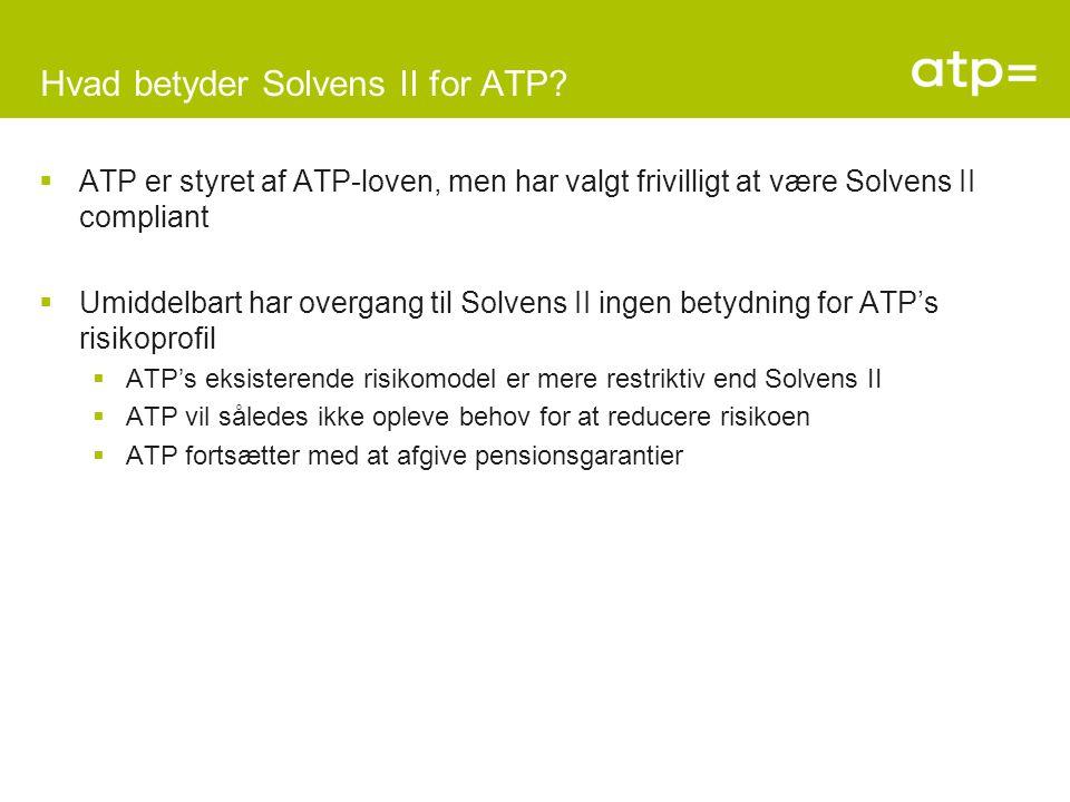 Hvad betyder Solvens II for ATP.