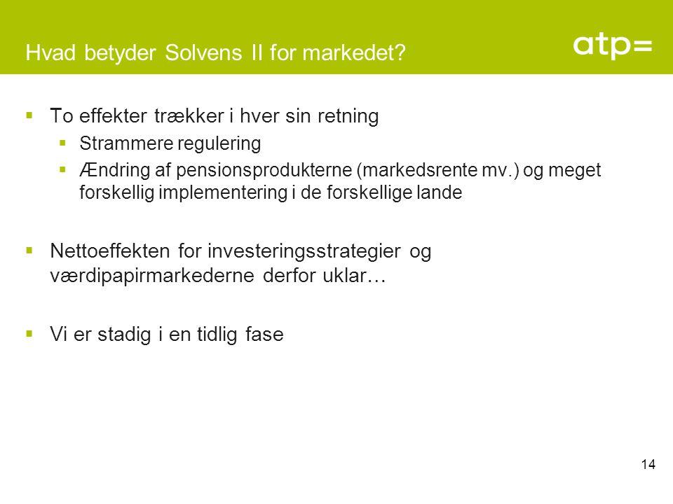 Hvad betyder Solvens II for markedet.