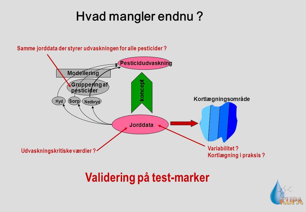 Pesticidudvaskning Jorddata Modellering Hyd Sorp Nedbryd koncept Kortlægningsområde Gruppering af pesticider Udvaskningskritiske værdier Variabilitet .