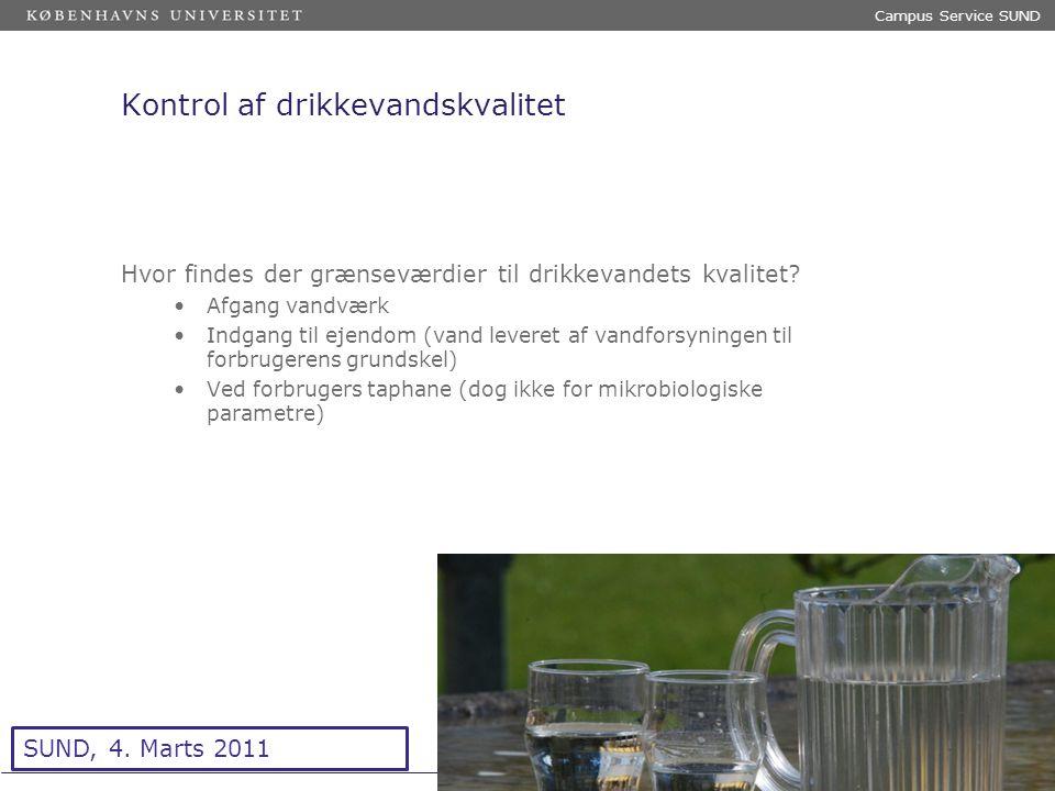 Sted og dato (Indsæt --> Diasnummer) Dias 6 Kontrol af drikkevandskvalitet Hvor findes der grænseværdier til drikkevandets kvalitet.