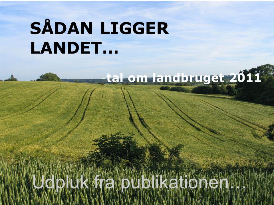 SÅDAN LIGGER LANDET… -tal om landbruget 2011 Udpluk fra publikationen…