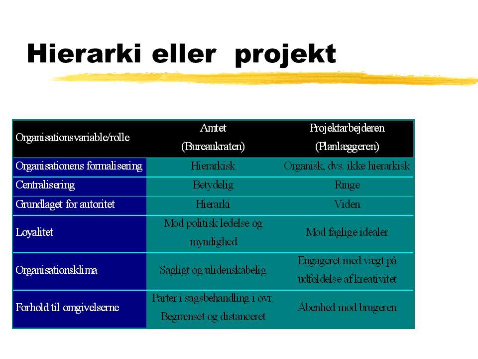 Hierarki eller projekt