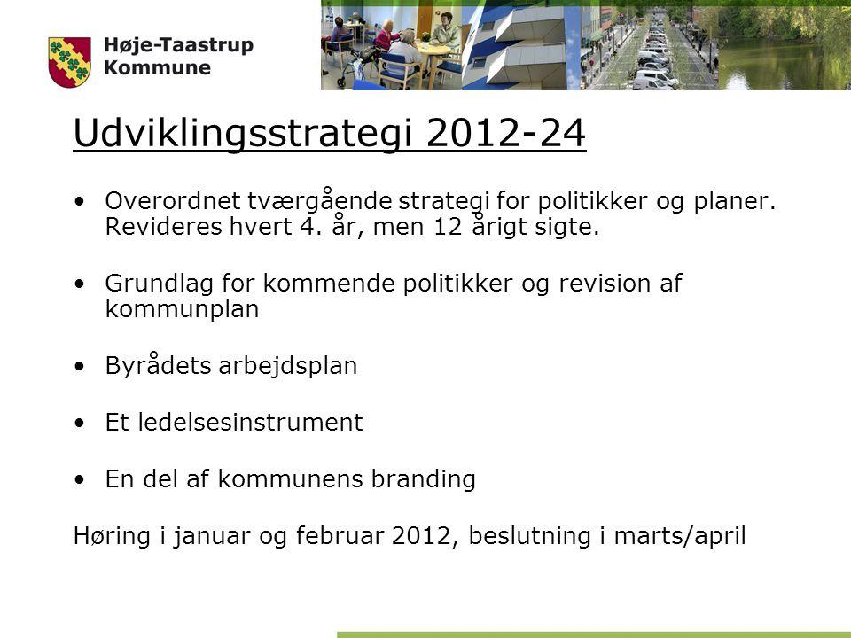 Udviklingsstrategi 2012-24 Overordnet tværgående strategi for politikker og planer.