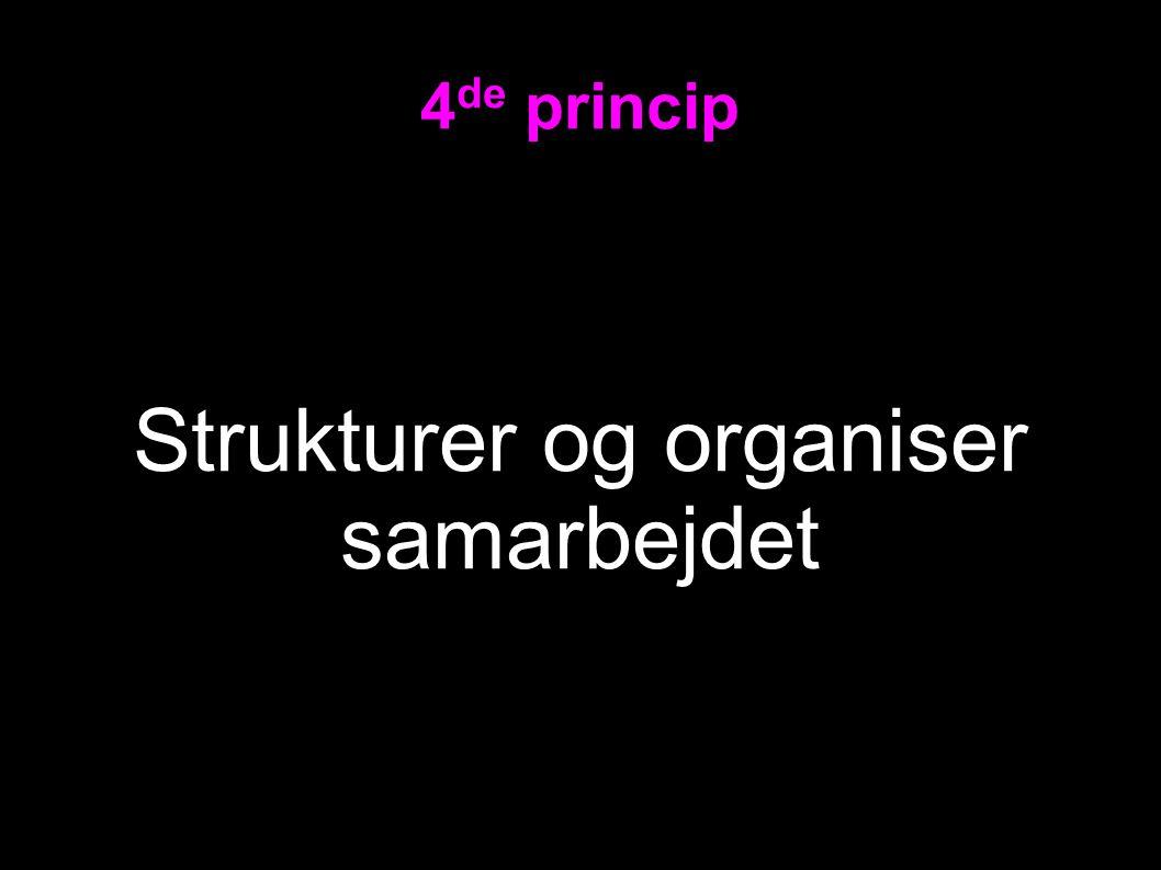 4 de princip Strukturer og organiser samarbejdet