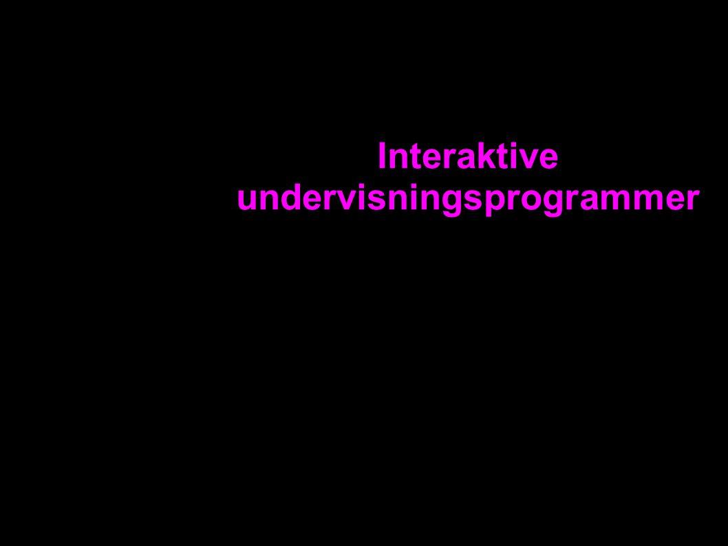 Interaktive undervisningsprogrammer