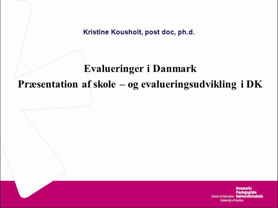 Kristine Kousholt, post doc, ph.d.