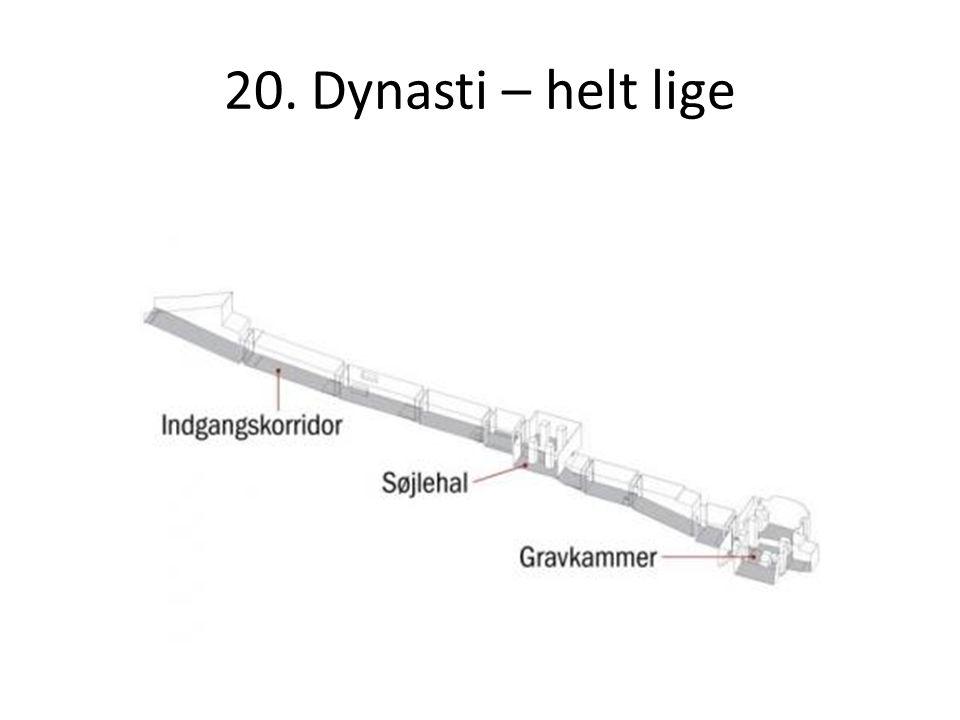 20. Dynasti – helt lige