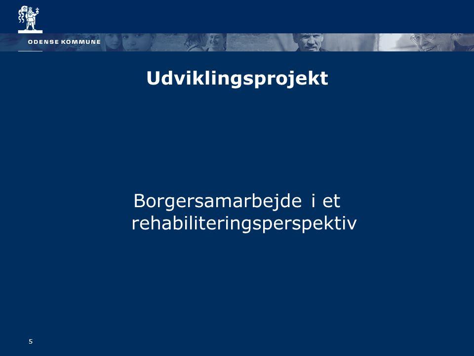 5 Udviklingsprojekt Borgersamarbejde i et rehabiliteringsperspektiv