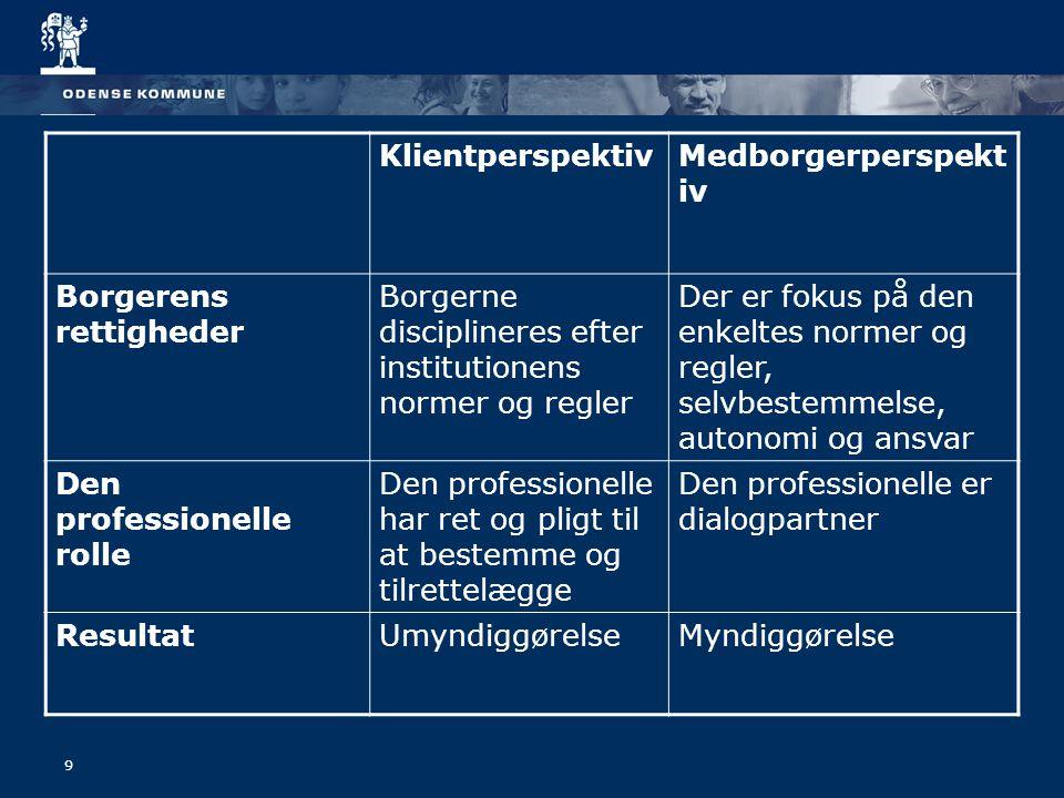10 Tværfagligt samarbejde Et koordineret samarbejde mellem fagpersoner Fagpersonerne arbejder mod et fælles mål / borgerens mål Hver fagperson søger at anvende egen ekspertise mhp.