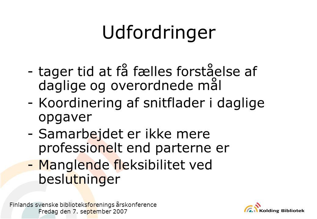 Finlands svenske biblioteksforenings årskonference Fredag den 7.