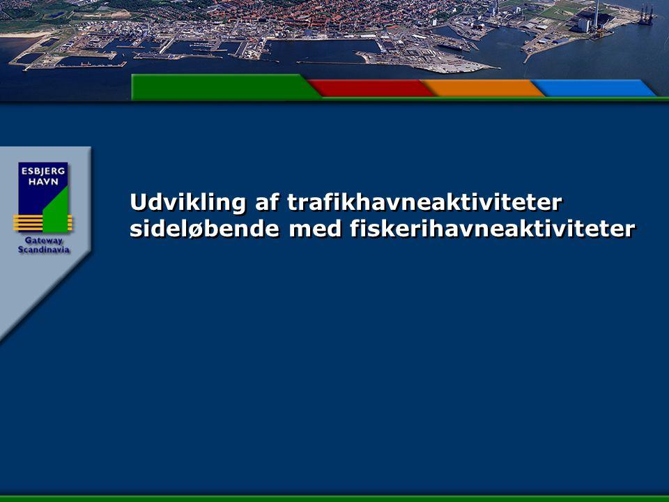 Udvikling af trafikhavneaktiviteter sideløbende med fiskerihavneaktiviteter