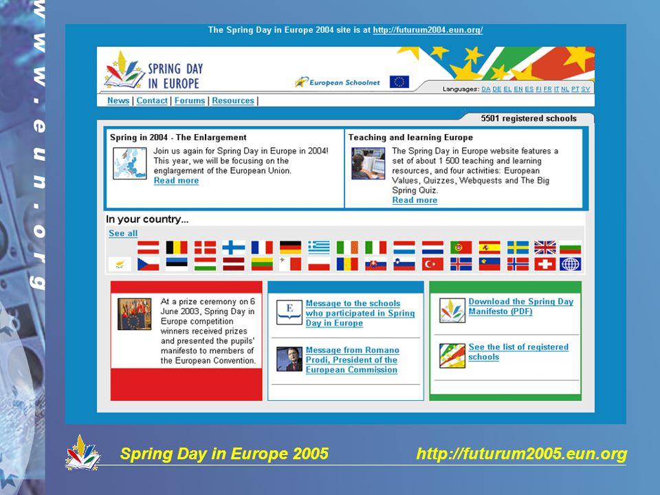 Spring Day in Europe 2005 http://futurum2005.eun.org