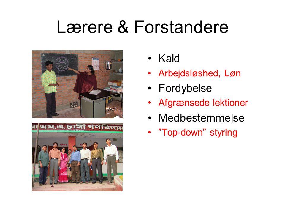 Lærere & Forstandere Kald Arbejdsløshed, Løn Fordybelse Afgrænsede lektioner Medbestemmelse Top-down styring