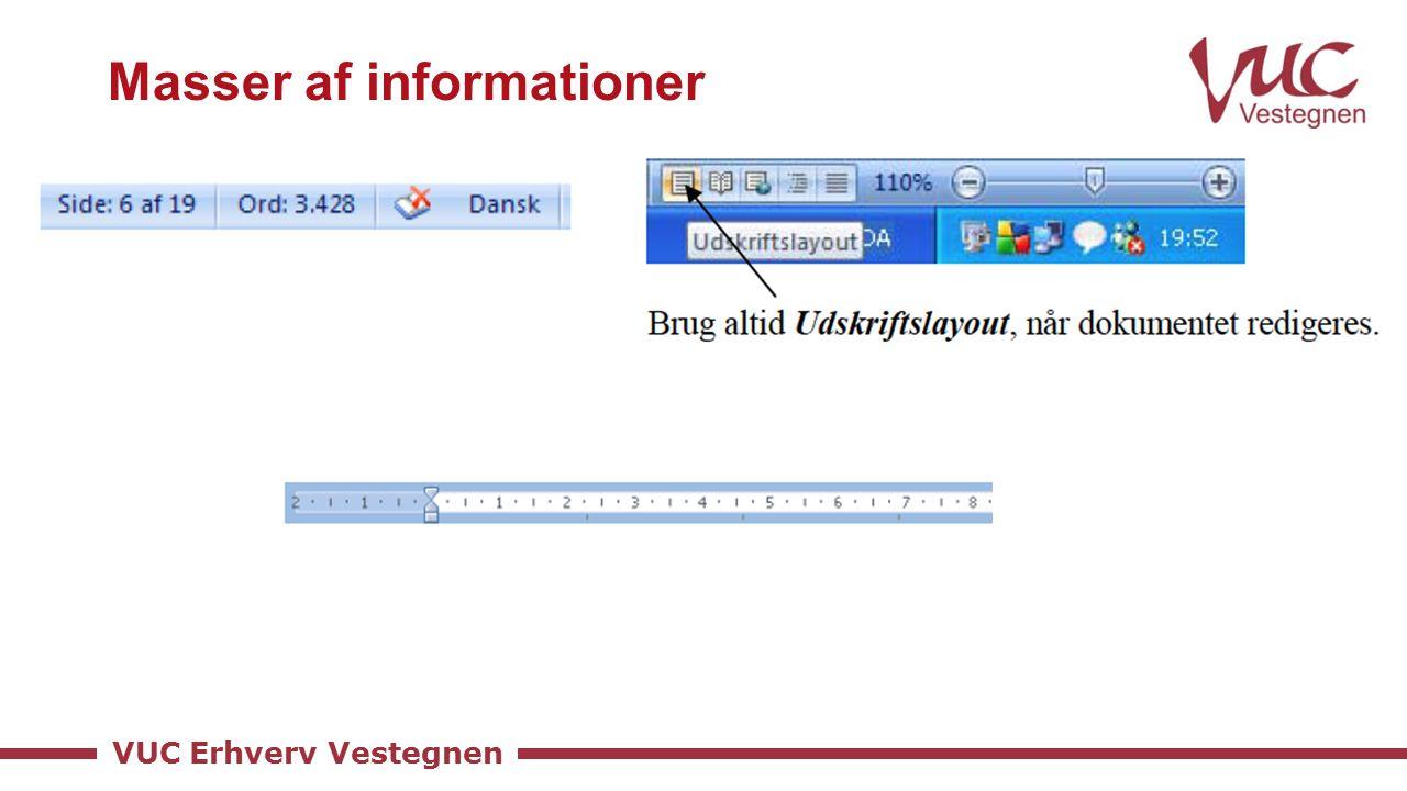 VUC Erhverv Vestegnen Masser af informationer
